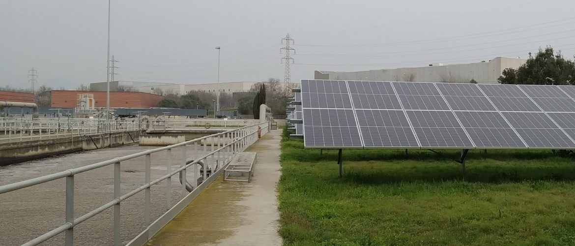 Construction management of two photovoltaic parks at two Sabadell WWTPs